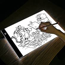 A4Tracing caja de luz cuadro de dibujo, USB tablero de dibujo, LED Artcraft Tracing Light Pad, con brillo ajustable, para artistas dibujo, dibujo, animación