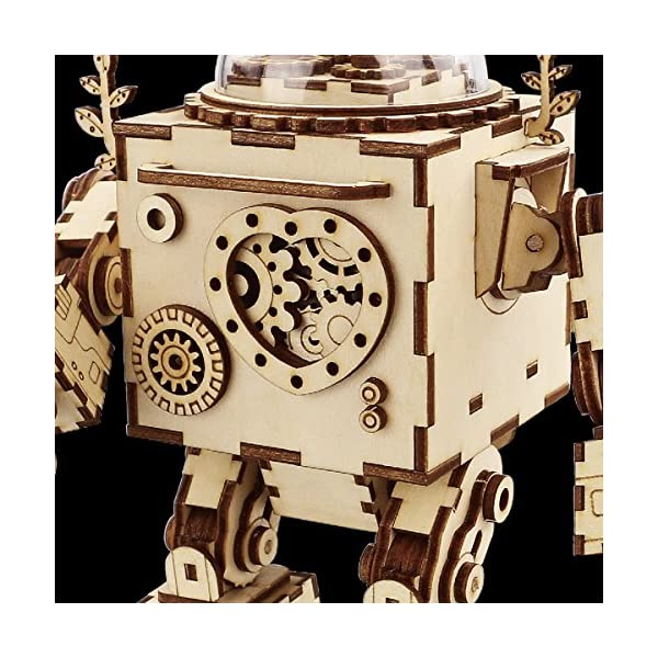 Robotime Laser Cut Wooden Puzzle-DIY Mechanism Music Box-Wooden Model Building-Birthday for Kids and Adults 3