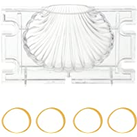 ARTIBETTER 3D Seashell Candle Mold Acrylic Scented Candle Mold Candle Making Aromatherapy Plaster Molds Scallop Soap…