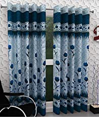 Homefab India Set of 2 Polyester Floral Curtains