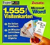 SuperPlus, CD-ROMs, Eintausendfünfhundertfünfundfünfzig fertige Visitenkarten für Word, 1 CD-ROM