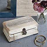 San Valentino regalo, Attraente gioielli Trinket dell'organizzatore ricordo scatola multiuso bagagli a mano intagliato con Metal fermo