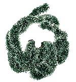 HAAC - Ghirlanda di abete artificiale, lunghezza: 2 m, colore: Verde/Bianco