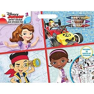 Anker djacs Disney Junior Artista Color y Pegatina Pad