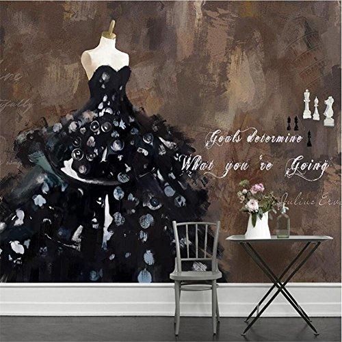 H&M Wallpaper Personalisierte Mode Hochzeit Kostüme Abstrakte Kunst Ölgemälde 3D Benutzerdefinierte Wandbilder für Hochzeit Shop Hintergrundwand, A