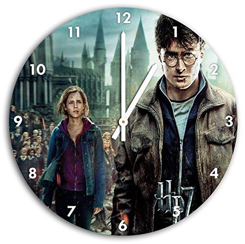 foto de Harry Potter en el reloj de pared con blanco encabeza las manos y la cara, de 30 cm de diámetro, decoración perfecta para su hogar, idea regalo estupendo para jóvenes y mayores