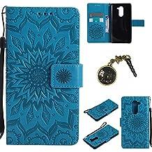 PU Cuir Coque Strass Case Etui Coque étui de portefeuille protection Coque Case Cas Cuir Swag Pour ( Huawei Honor 6X ) +Bouchons de poussière (6FF)