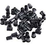 50Pcs Soporte Plástico Negro Lámpara Zócalo Diodo Soporte Clip Montaje LED Bombillas 3mm 5mm 8mm 10mm (5mm)