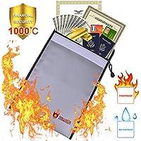 Dewel Fuego Fija para Documentos (38* 28cm), Resistente al Calor Resistente al Agua Sobre Funda, Densidad de Agua para Documentos