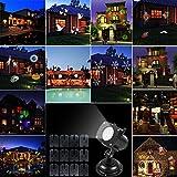 ACRATO Projecteur Exterieur Jardin Lampe LED 12 Motif Romantique Décoration Maison pour Noël Parties Anniversaire Halloween Saint Valentin