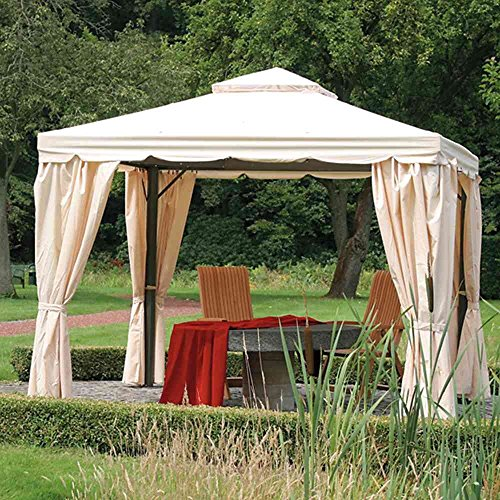Seitenteile natur zu Dubai Pavillon 3x3m Polyester 160g/m², 4 Stück