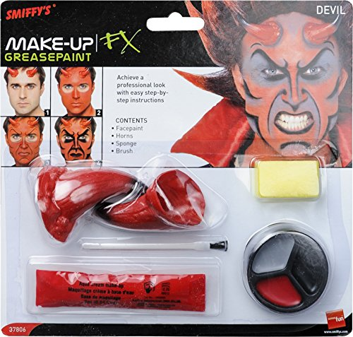 Smiffy's-37806 Kit maquillaje demonio, incluye