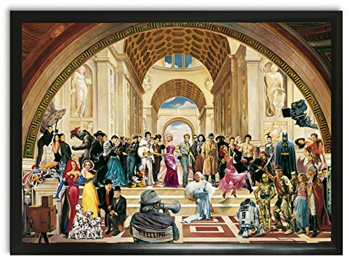 Bild Kunstdruck Renato Casaro 100 years of film Hollywood James Dean Elvis Presley star wars xxl