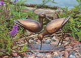 Garden at Home Sandpiper Statue aus Gusseisen mit Bronze-Finish.
