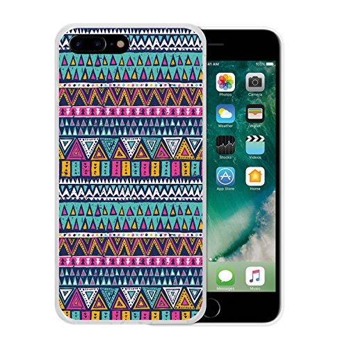 iPhone 7 Plus Hülle, WoowCase Handyhülle Silikon für [ iPhone 7 Plus ] Grau und Rosa Schädel Handytasche Handy Cover Case Schutzhülle Flexible TPU - Schwarz Housse Gel iPhone 7 Plus Transparent D0478