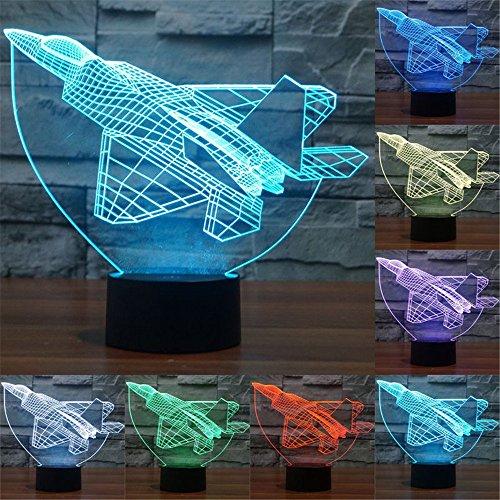 3D ILLUSION Lichter der Nacht, ( Kampfjet )