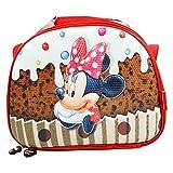 DISNEY Minnie Muffin - Cestino Porta Pranzo 3D per Bambini - Interno Termico -Tracolla Regolabile - Colore Multicolor