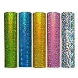 """Vinyle adhésif holographique Starlight 12 """"x 12"""" 5 feuilles / paquet pour artisanat"""