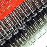 ELECTRONICS-SALON 10pcs 6A106A 1000V Axial rectificador Diodo, 1kV 6Amp.