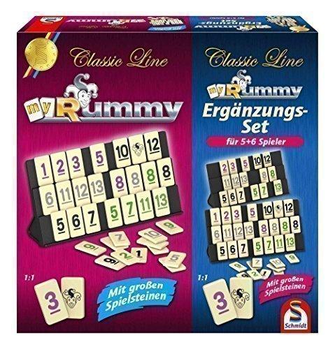 SCHMIDT SPIELE - Rummy Juego Complementos 5-6 Jugadores