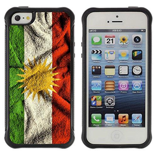 Graphic4You Kurdistan Kurdisch Flagge Stoßfeste Anti-Rutsch Weichen Hülle Case Tasche Schale Schutzhülle für Apple iPhone SE / 5 / 5S Design #5