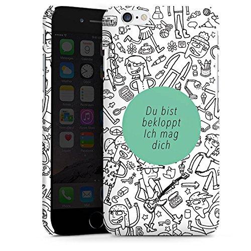 Apple iPhone X Silikon Hülle Case Schutzhülle Verrückt Crazy Sprüche Premium Case matt