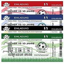 40 Einladungskarten Fussball Ticket Fußball Geburtstag Einladung Party  Feier 40 Stück