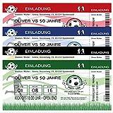 40 Einladungskarten Fussball-Ticket Fußball Geburtstag Einladung Party Feier 40 Stück