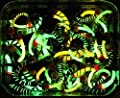 20 mixed GLOW IN THE DARK LUMMIES Trout Fly Fishing Flies S151-10 by BryTec