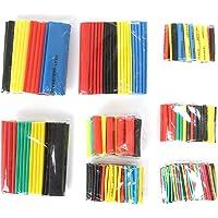 Lidahaotin 328pcs chaleur colorée Shrink tubes Sleeving Tubes Wrap fil Jeu de câbles 8 Taille