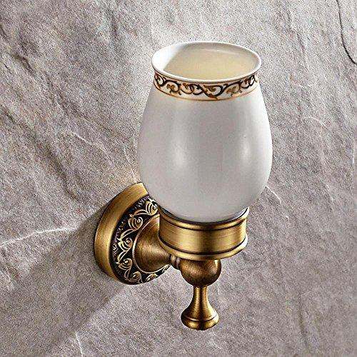 LINA@ Continentale intagliato portaspazzolino piedistallo vetro antico bagno accessori montaggio