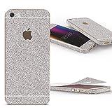 Urcover Glitzer-Folie zum Aufkleben | Apple iPhone SE/5/5s | Folie in Silber | Zubehör Glitzerhülle Handyskin Diamond Funkeln Schutzfolie Handy-schutz Luxus Bling Glamourös