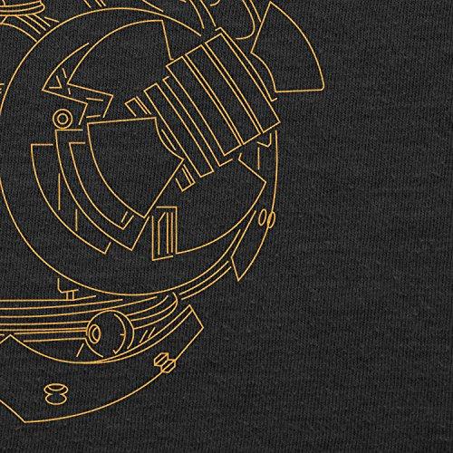 TEXLAB - BB Lines - Herren Langarm T-Shirt Schwarz