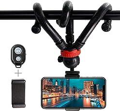 Kamera Handy Stativ, yhx Flexible Mini Stativ Kamera Reisestativ mit kabelloser Fernbedienung-Auslöser für iPhone, Android Handy, Kamera und Go