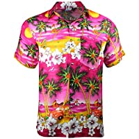 Cherry-on-Top Hawaiian Shirt Summer Caribbean Party Stag Camper Pink, M
