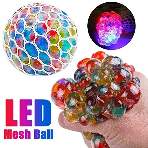 Zhongke stress squeeze toy mesh squishy sfera stress relief grape balls incandescente spremere ansia sollievo sfida morbida sfera giocattolo colorato per adulti bello