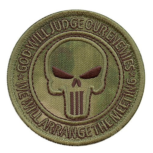 2AFTER1 God Will Judge Our Enemies A-TACS FG US Navy Seals DEVGRU JSOC  NSWDG Morale Sew Iron on Patch
