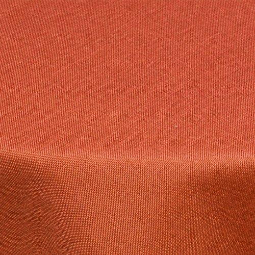 Textil Tischdecke Leinen-Optik 160cm rund mit FLECK-Schutz terrakotta *abwaschbar* Farbe wählbar