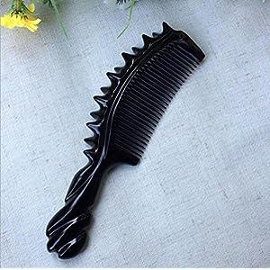 CHUANGHDF Comb ® Black Büffelhorn Massagekamm Verkauft Geschenke Holzkamm, A