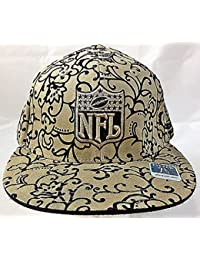 Nfl Logo Fitted Flat Bill Flocked Design Reebok Hat - Size 7 5/8