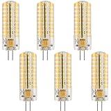 MENGS® 6 stuks dimbaar G4 LED-lamp 7W AC/DC 12V warm wit 3000K 72x2835 SMD met siliconen mantel