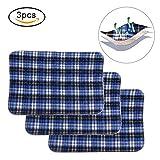 Tappetino riutilizzabile lavabile, un pannolone assorbente per incontinenza per adulti Blue Grid (45 * 60cm)(3PCS)