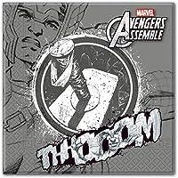Adolescentes Marvel Avengers Assemble Servilletas De Papel, Paquete de 20 incluye Thor