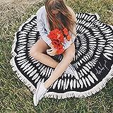 Merssavo 150 * 150CM Baumwolle Strandtücher Indische Gobelin Wandbehang Mandala Werfen Hippie-Tagesdecke Gypsy Twin Decke