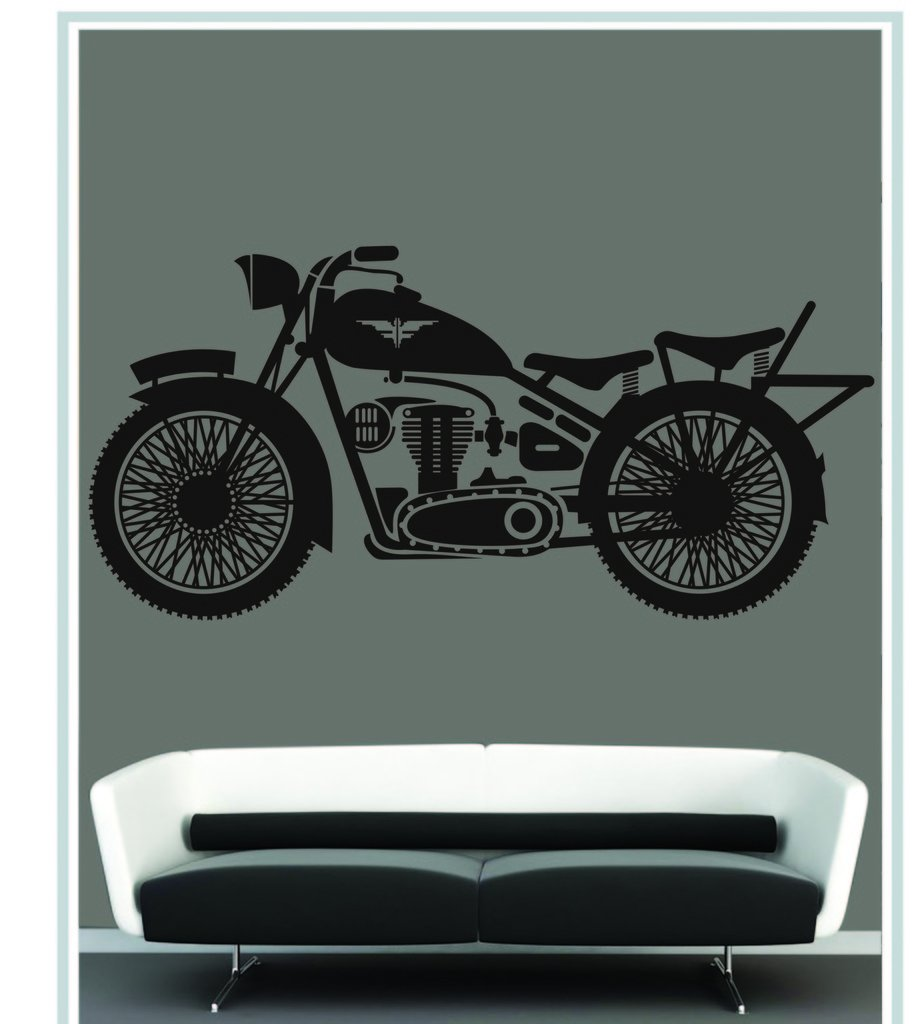 Buy decor kafe decal style decal style vinatge bike wall sticker buy decor kafe decal style decal style vinatge bike wall sticker wall poster pvc vinyl 91 x 45 cm online at low prices in india amazon amipublicfo Choice Image