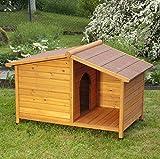 Niche pour chien 4saisons en bois huilé-Niche avec terrasse Abri-Idéal pour Garder Votre...