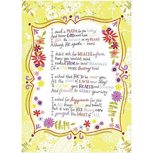 Dicksons I Said Ein Gebet für Sie Heute Floral gedeckten Lime 8x 11Holz Wandschild Aufschrift