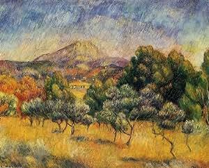 Poster impression sur toile 16 x 13 inches 41 x 33 cm for Renoir maison classique