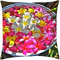 Bowl of Plumeria Flowers beautiful - Throw