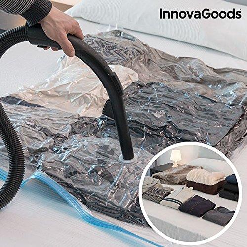 Preisvergleich Produktbild innovagoods Vakuum Tasche für Kleidung,  Polyethylen,  100 x 130 x 3 cm
